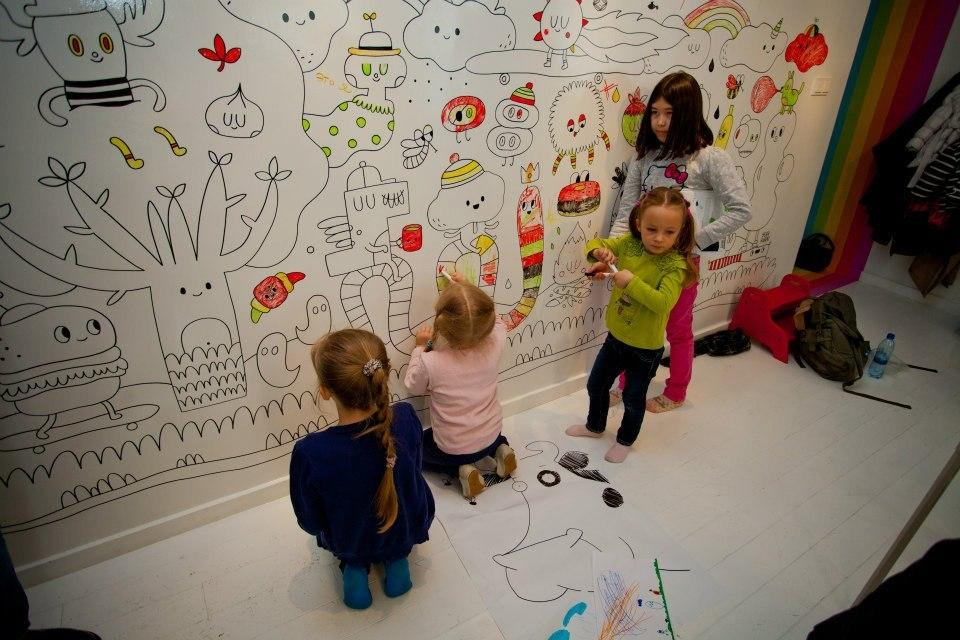 маркерные краски для стен