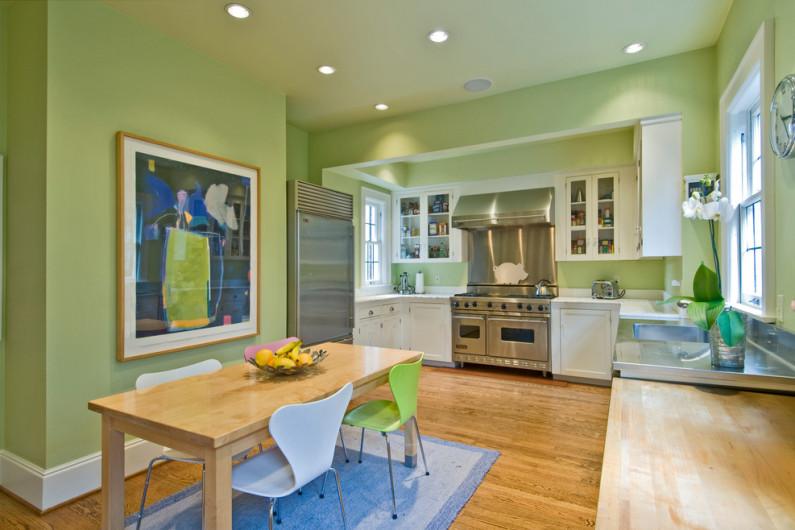 в какой цвет покрасить стены в кухне