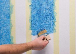 краска вместо обоев на стену
