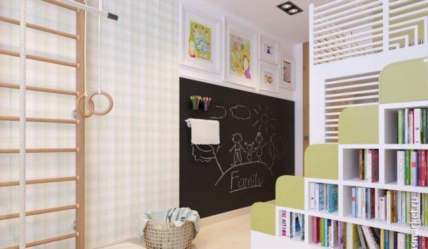 Как смотрится в интерьере квартиры меловая, графитовая или магнитно-грифельная краска, можно ли ее применять для детской комнаты