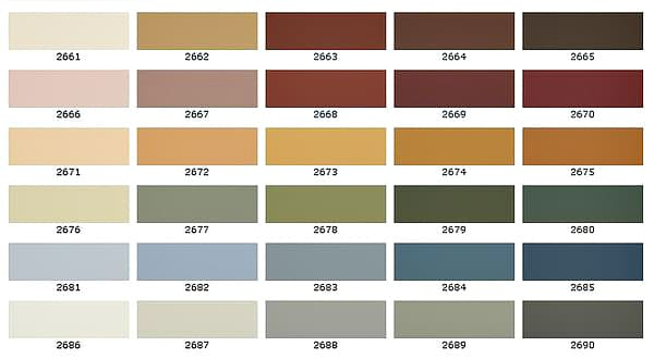 палитра красок для стен
