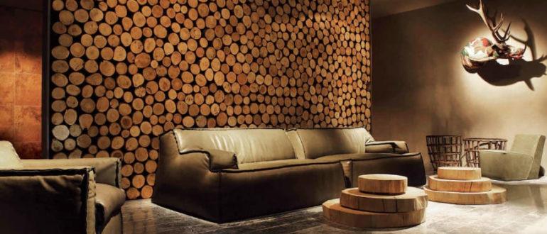 отделка деревом стен