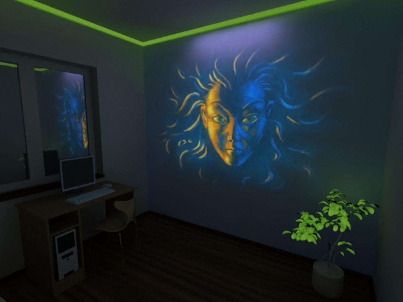 краски для стен светящиеся
