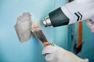как снять масляную краску со стен