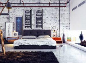 покраска стен в стиле лофт