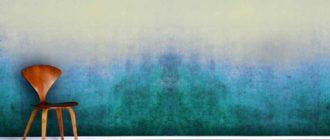 покраска стены в два цвета