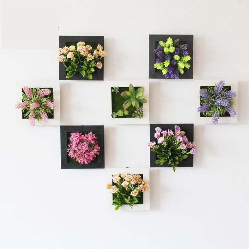 цветы искусственные на стену