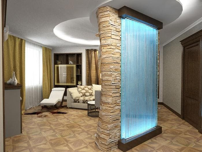 водопад в стене в квартире