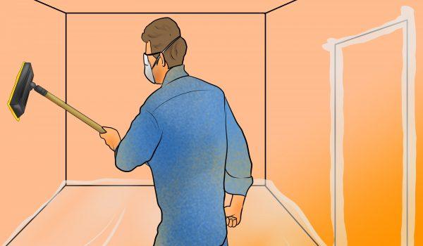 Все способы, как убрать строительную пыль со стен и потолка после проведенных работ