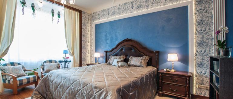 декор стены в спальне