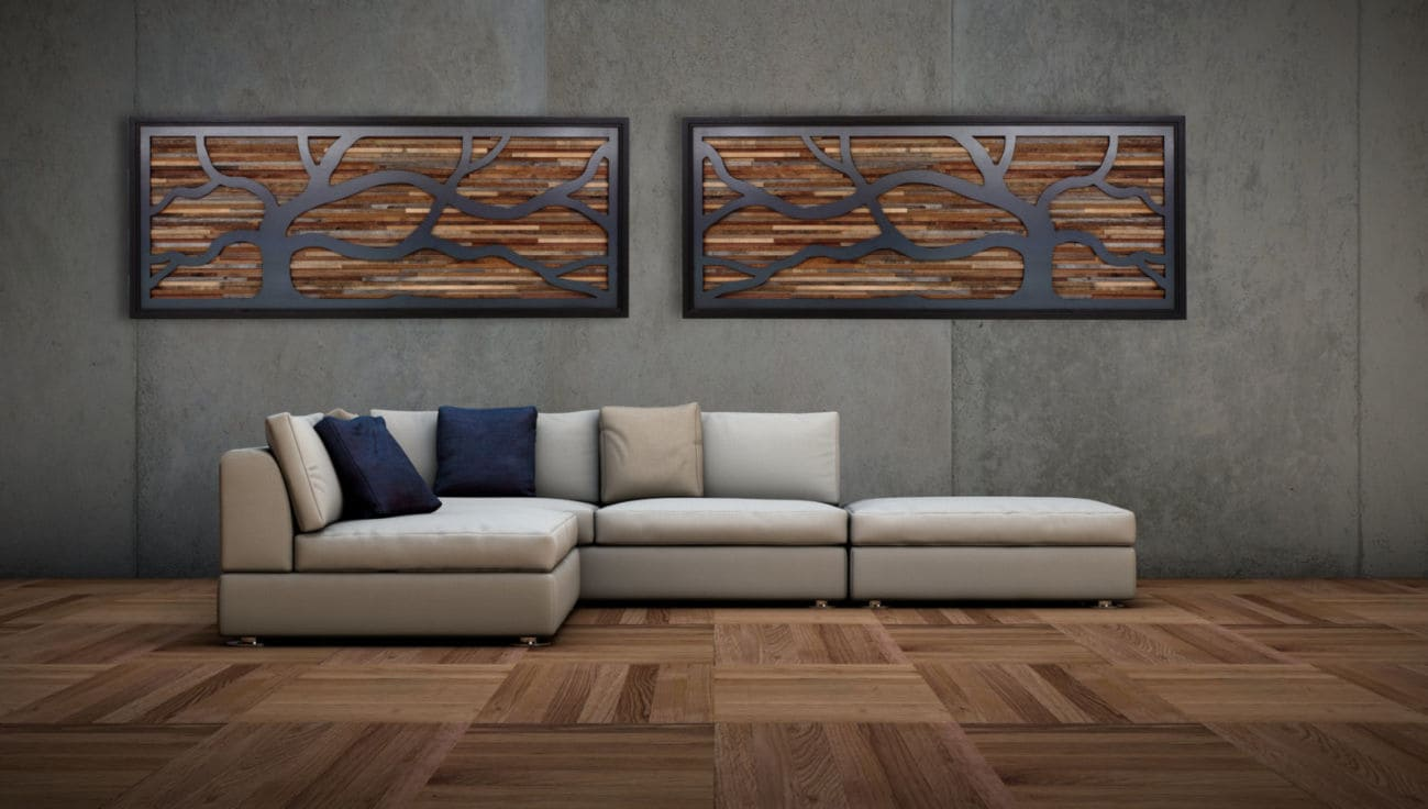деревянное панно на стену
