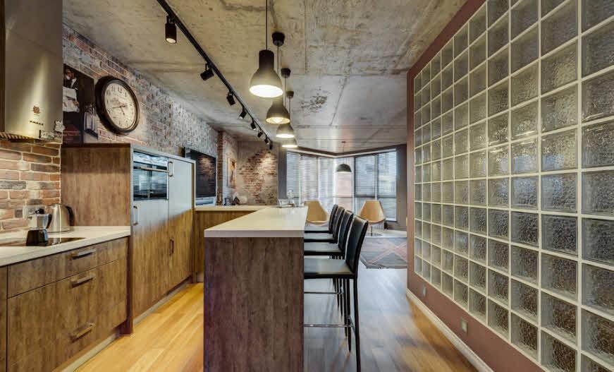 варианты отделки стен на кухне