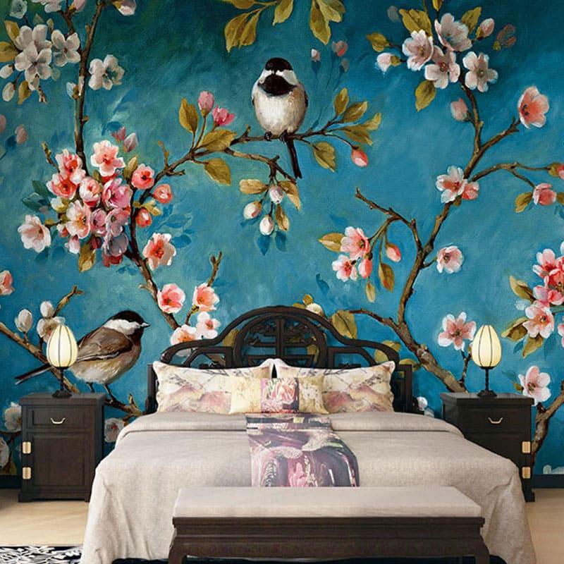 обои с птицами для стен