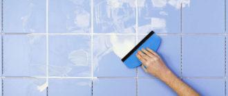 как очистить стены от плиточного клея