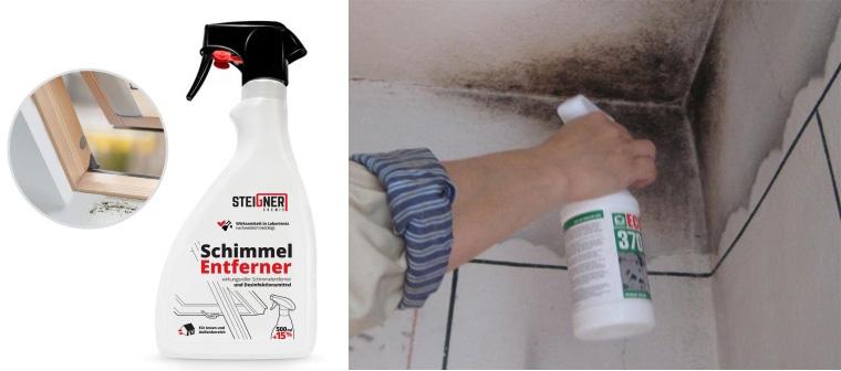как убрать грибок в ванной между плитками на стене