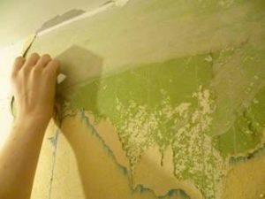 как снять краску со стен в ванной