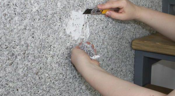 как снимать жидкие обои со стен