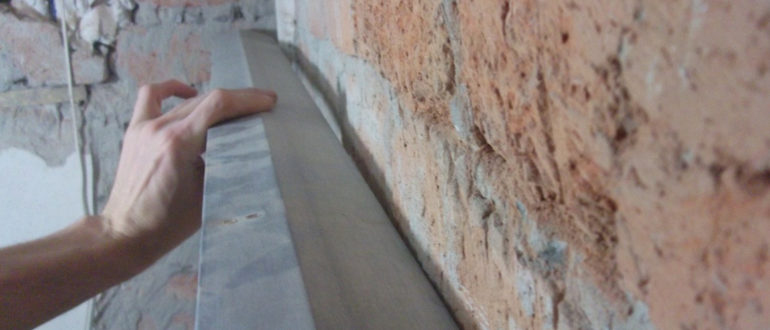толщина штукатурки стен