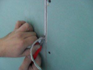 стыки гипсокартона на стене