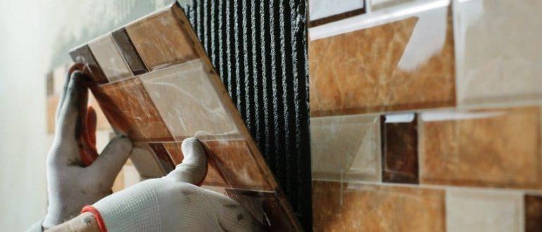 керамическая плитка укладка на стену