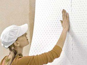 как клеить стеклообои на стену