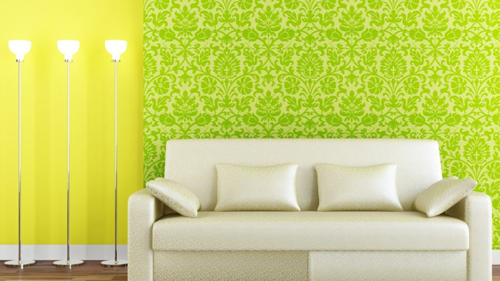 зеленые обои для стен