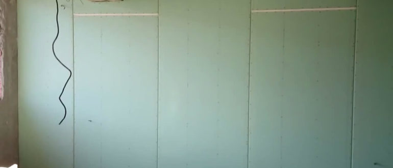 гипсокартон без каркаса на стену