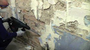 как снять штукатурку со стены