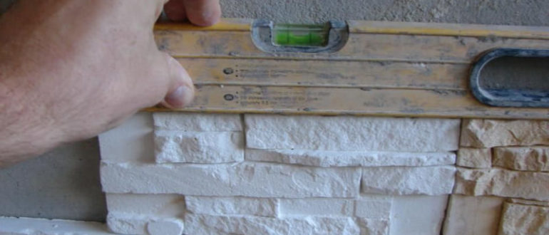 отделка стен декоративным камнем