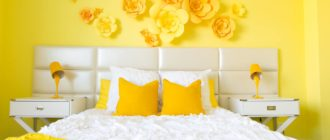 обои желтые для стен