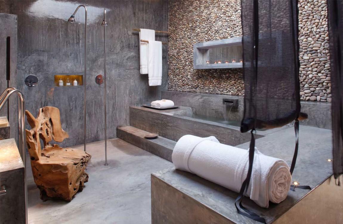 бетонные стены в интерьере