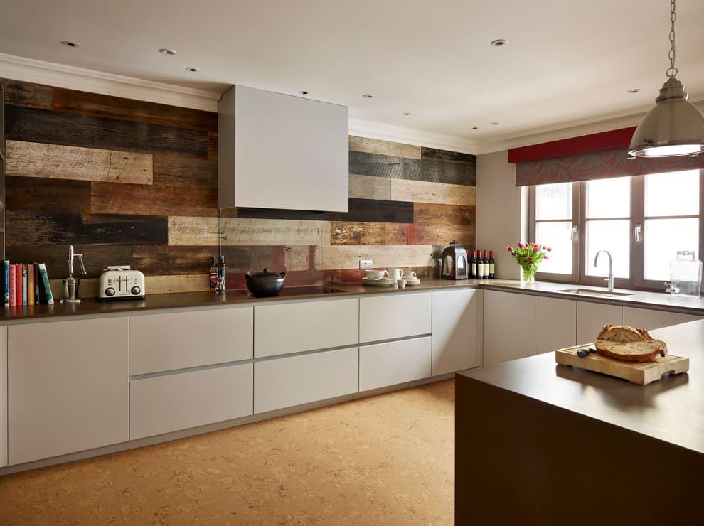 ламинат на стенах на кухне