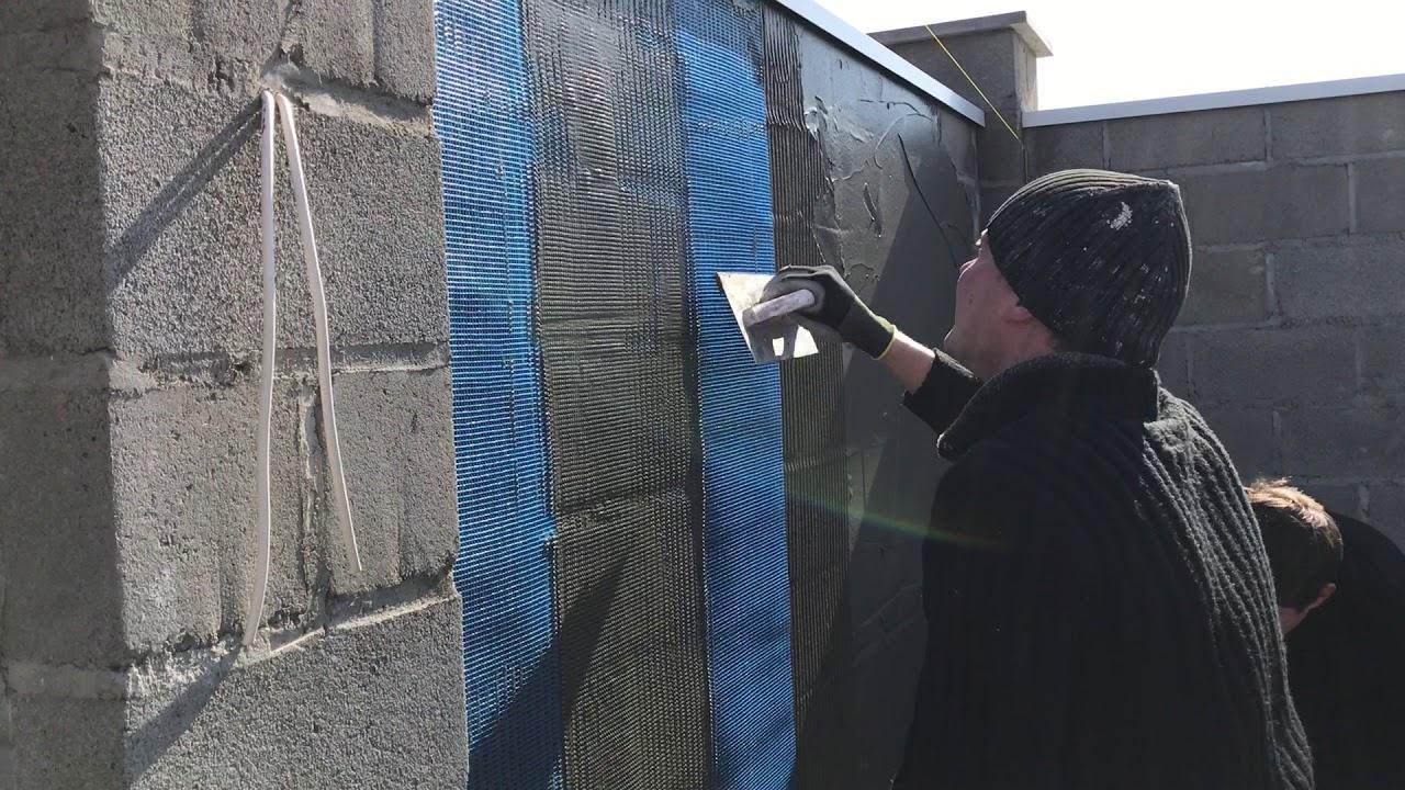 оштукатуривание стен по сетке