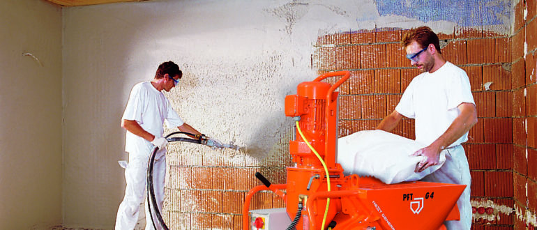 механизированная шпаклевка стен