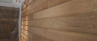отделка ламинатом стены