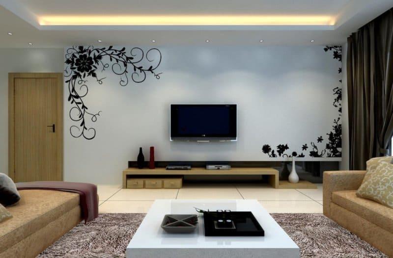 интерьер стены в зале