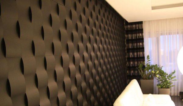Декоративные МДФ самоклеящиеся или гипсовые объемные 3Д панели для стен в квартире: область применения, вариант монтажа и уход