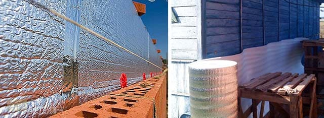 Как приклеить фольгированный утеплитель к стене