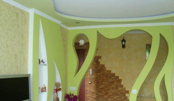 Примеры и фото красивых стен из гипсокартона - дизайн и необычные решения