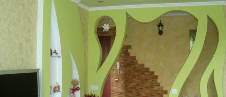 стены из гипсокартона дизайн