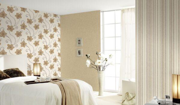 Комбинация обоев в спальне: возможные варианты
